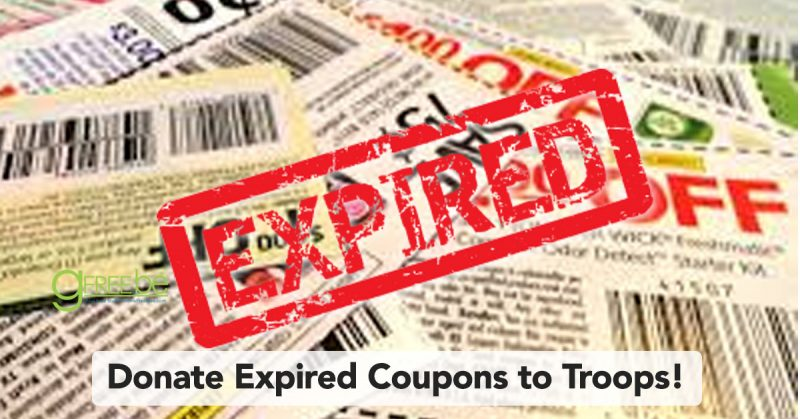 Donate expired coupons to troops!