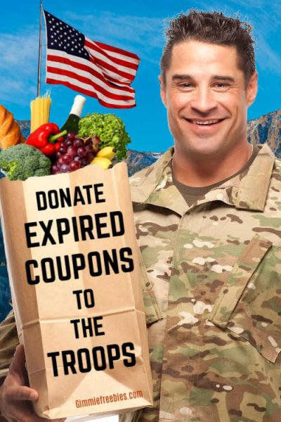 donate expired coupons troops military