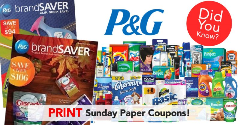 Print Sunday Paper Coupons at home!