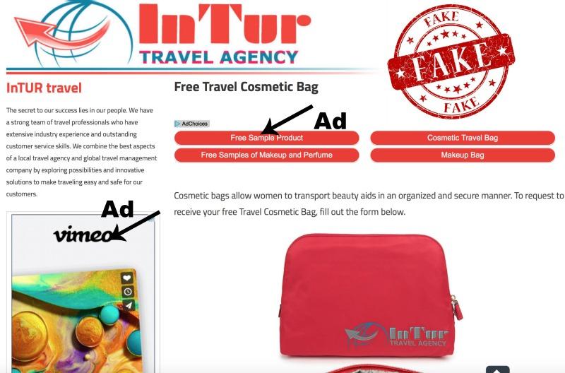 hoax intur travel cosmetic bag