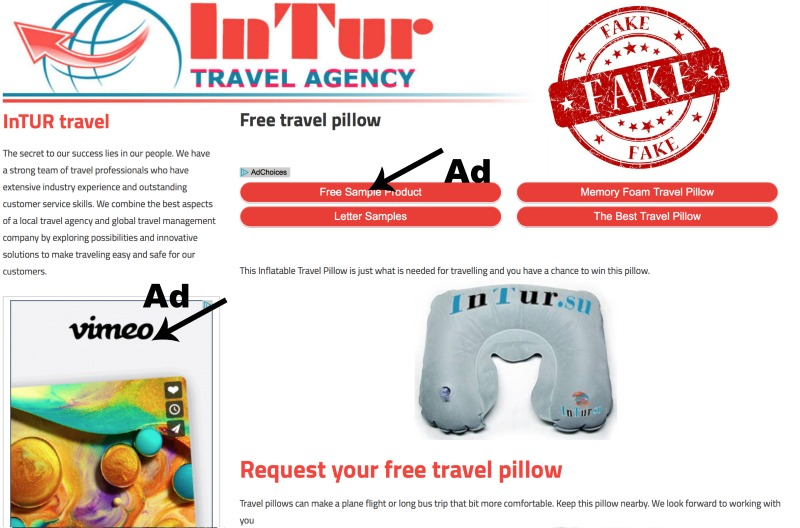scam intur travel neck pillow