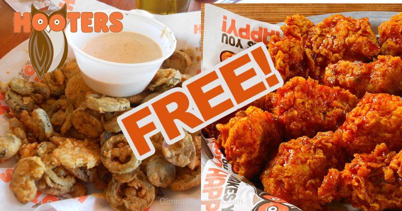 free hooters food