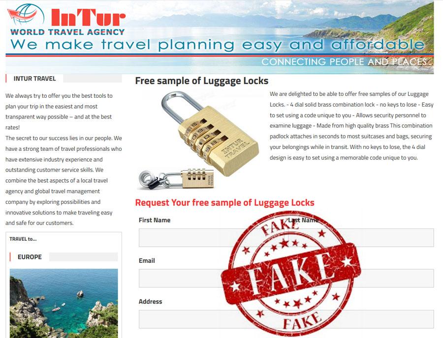 intur travel agency scam free luggage lock