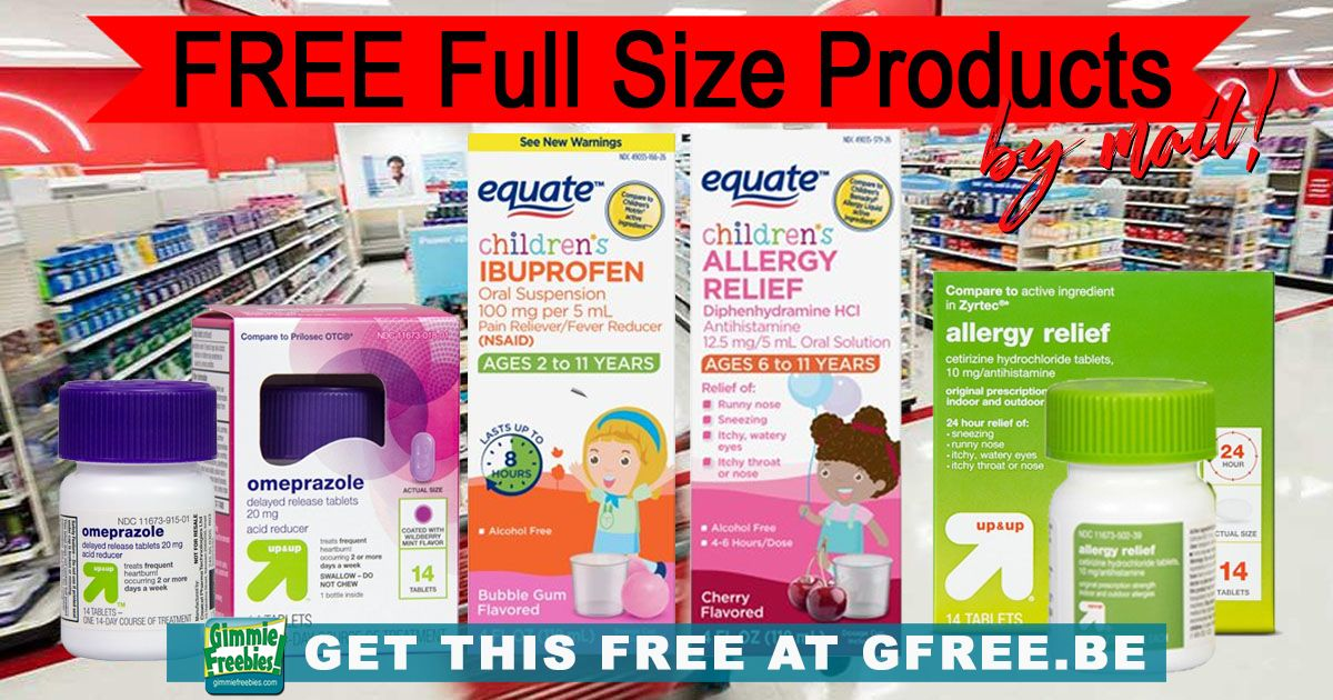 FREE Medicine - Full Size Product Test by Mail