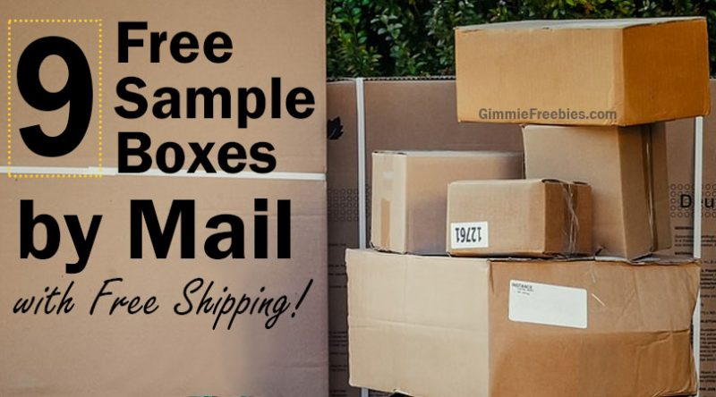 9 Free Sample Boxes by Mail with Free Shipping