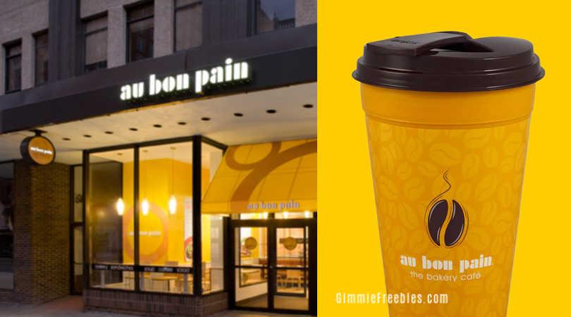 free travel mug au bon pain