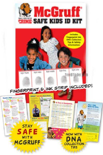 FREE McGruff Safe Kids Fingerprint ID Kit by Mail