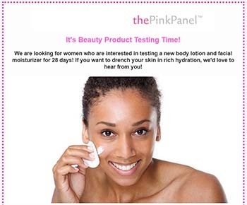 pink panel email