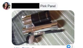 the pink panel proof mail
