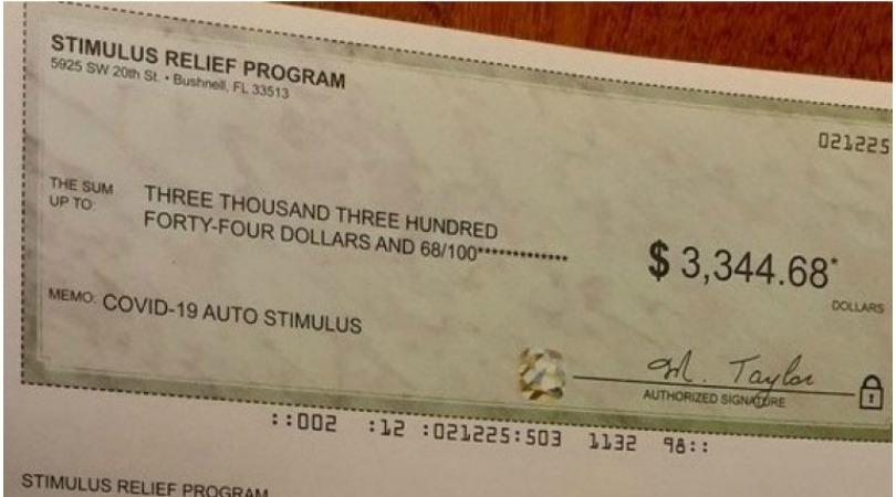 Beware! Stimulus Check Scam! Don't be a Victim