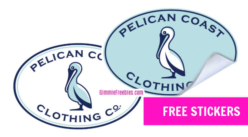 Free Pelican Coast Clothing Co. Stickers by Mail!