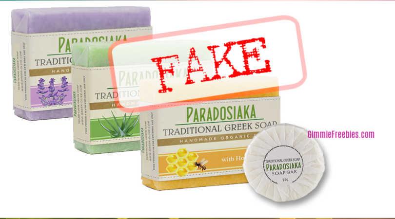 soap paradosiaka FAKE greek soap sample