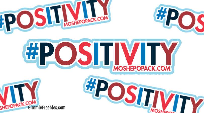 free positivity sticker mailed