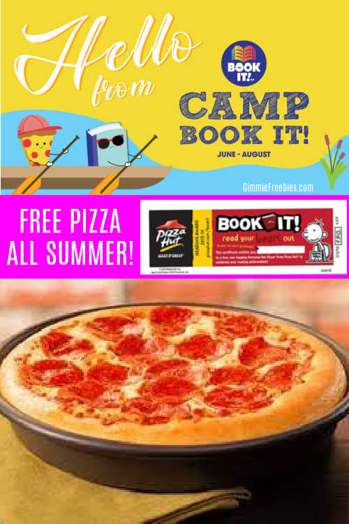 Free Pizza Hut all Summer for Reading Books with Camp Book It