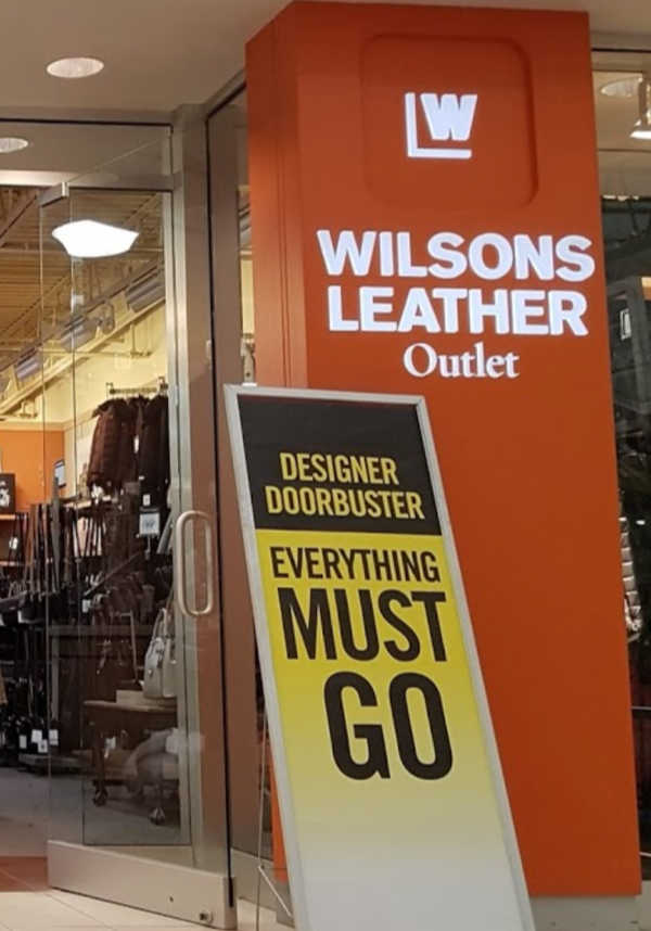 wilson leather store location closing