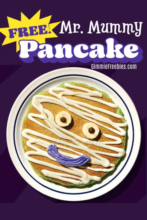 FREE Mr. Mummy Pancake at IHOP for Halloween