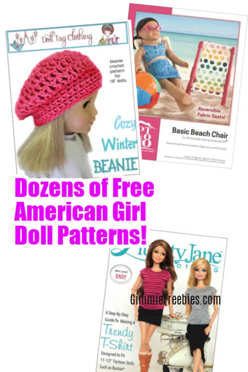 free american girl clothes patterns