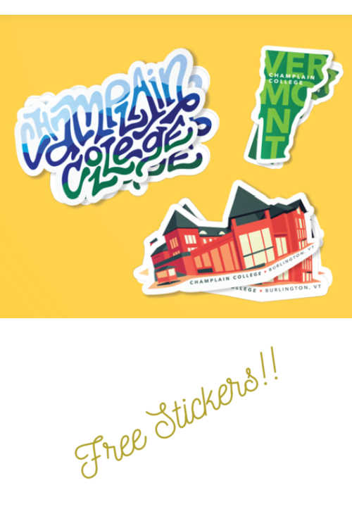 FREE Champlain College Stickers!