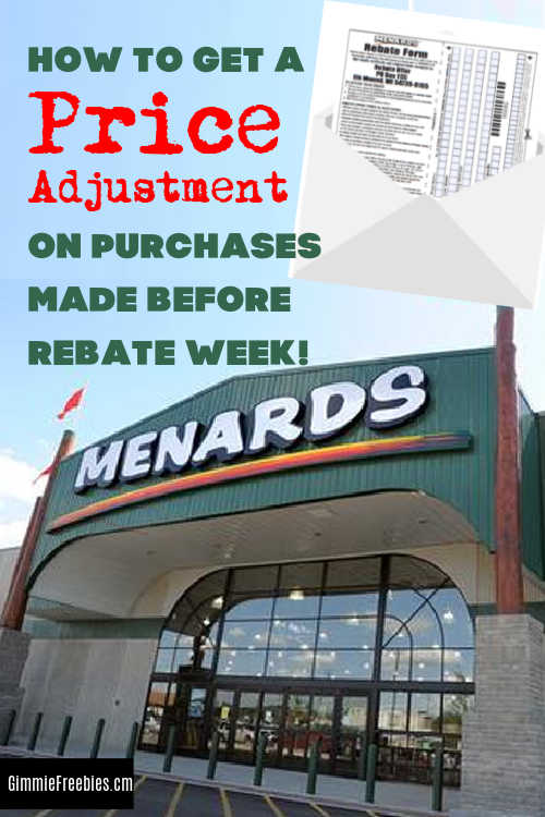 menards 11 rebate price adjustment