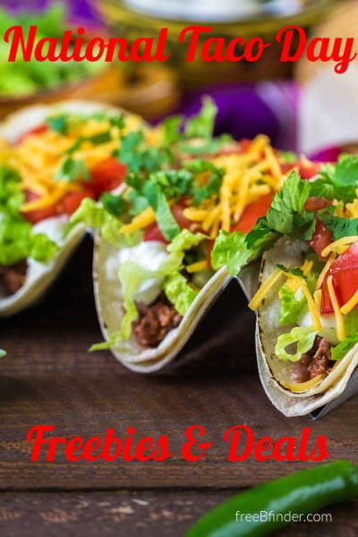 National Taco Day Freebies & Deals 2021