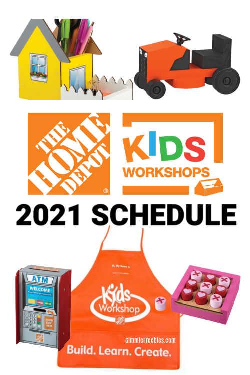 2021 home depot kids workshop schedule