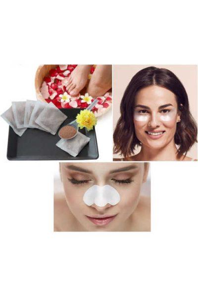 Free Spa Bundle Pack: Nose Pore Strip Foot bath & Under Eye Patch (PinchMe)