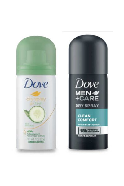 Free Dove Dry Spray Deodorant For Men or Women, Shipped Free