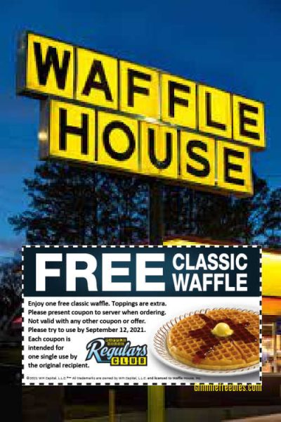 Free Waffle House Coupon for Classic Waffle & Hashbrowns