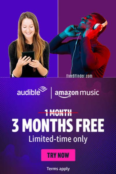Free 3-Months Amazon Audible Premium and Music Unlimited ($65 Value)