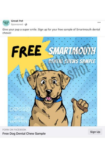 free smartmouth dog chews