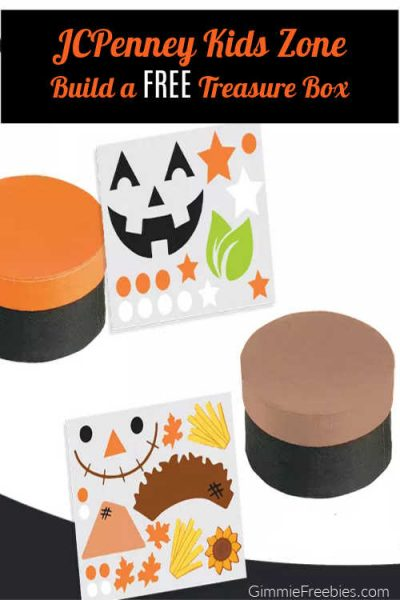 JCPenney Kids Zone. Free Fall Treasure Box Craft, October 2021