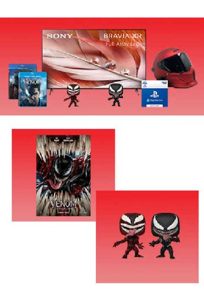 """The Venom: Let There Be Carnage Instant Win Sweepstakes  - Win 65"""" TV"""