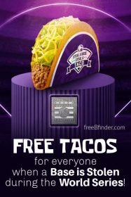 Free Taco Bell: Steal a Base, Steal a Taco World Series