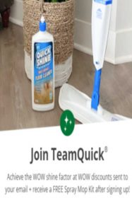 Free Spray Mop Kit with Free Shipping (Join TeamQuick)